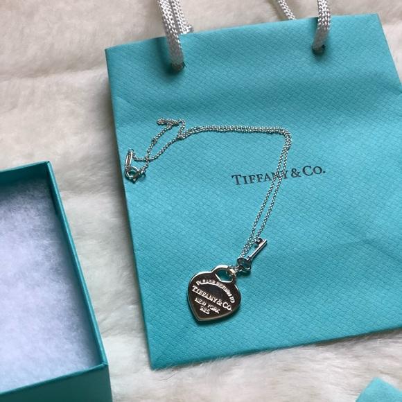 157747142911 Tiffany   Co. Heart tag key pendant necklace
